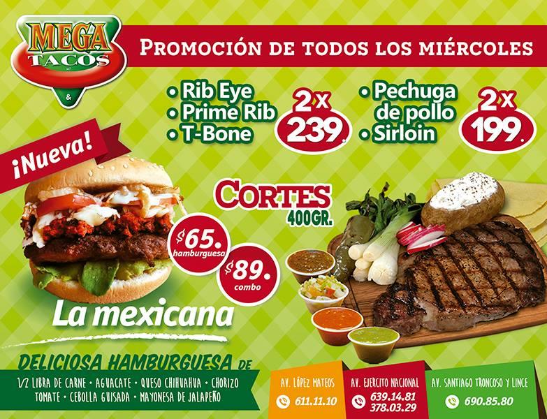 Ya es Miercoles..... Promocion de Cortes en Megatacos!!!