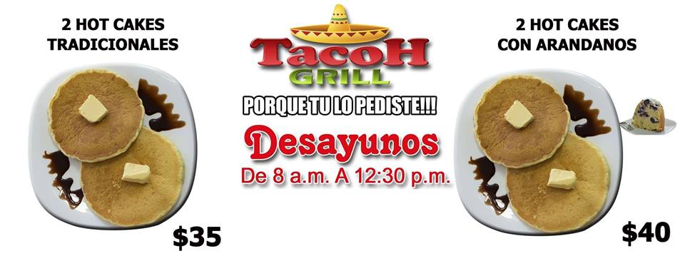 DESAYUNOS DESDE $35