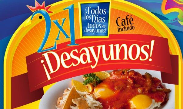 desayunos al 2 X 1
