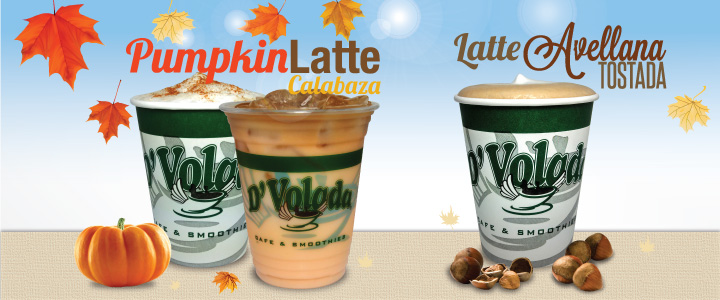Pumpkin Latte y Latte Avellana Tostada