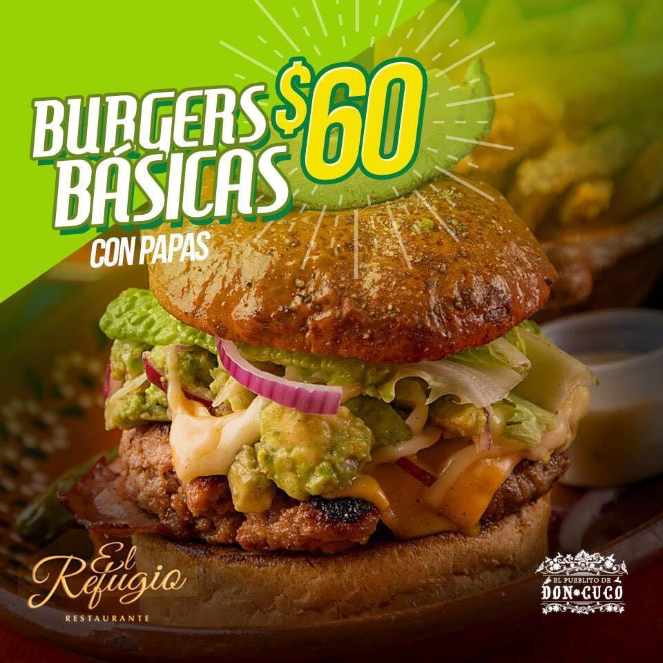 Burgers Basicas con Papas
